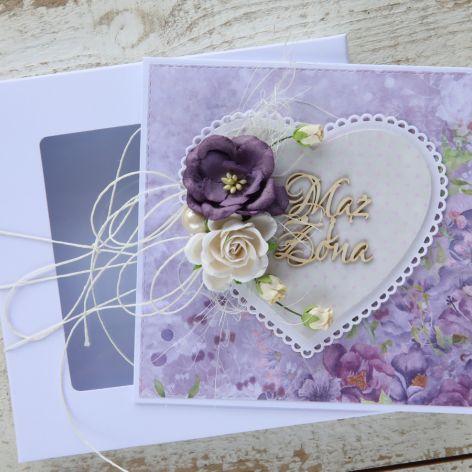 Kartka ślubna z personalizacją + pudełko b6