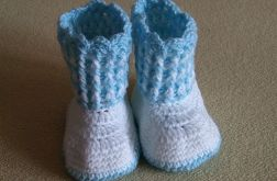 Buciki biało niebieskie