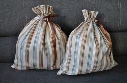Lniany duży worek na chleb lub drobiazgi 35x41 cm