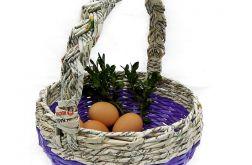 Koszyk wielkanocny - fiolet