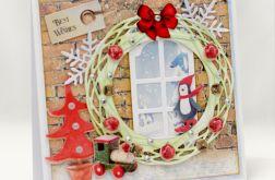 Okno wigilijne * Kartka świąteczna KBN1926
