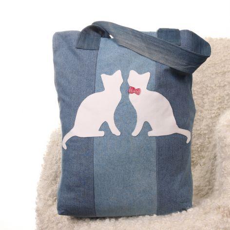 Ekologiczna torba na zakupy z kotami Kot