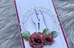 Kartka ślubna DL maki 4