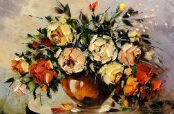 Róże - Obraz olejny 60x40cm