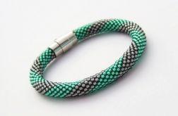 Bransoletka wąż zielono-grafitowa1