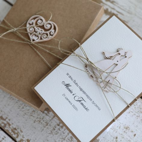 kartka ślubna z personalizacją i pudełkiem6a