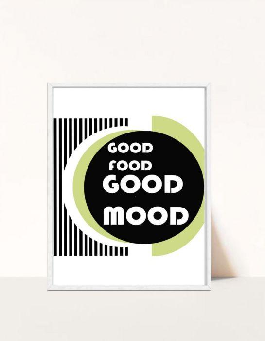 Plakat Good food Good mood -