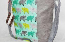Torebka listonoszka  słoniki dla dziewczynki