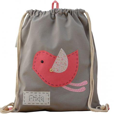 plecak worek ptaszek z imieniem do przedszkol