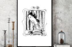 Barokowa Dama... art print A4