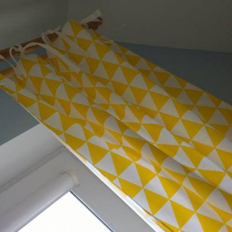 Zasłony trójkąty żółte