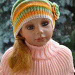 Kolorowa czapeczka zieleń z pomarańczą!