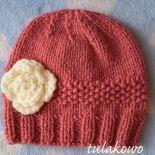 Zimowa czapka romantic ciemny pudrowy róż