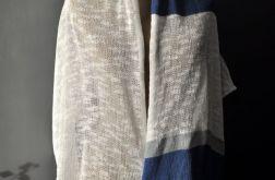letni szal bawełna len 160 cm