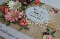 Kartka 70 urodziny BUKIET