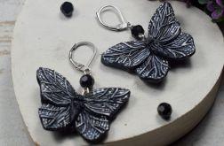 """Kolczyki """"czarne motyle"""""""