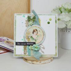 Kolory tęczy - kartka na Dzień Kobiet