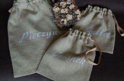 Komplet lnianych woreczków - zamówienie pani Kamili