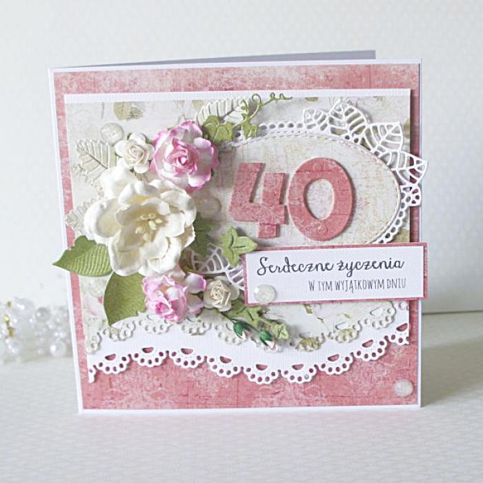 Kartka urodzinowa   40 lat.  v.3