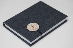 Notes z guzikiem ceramicznym format b6 300 kartek