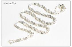 925 Srebrny Łańcuszek Singapur 55cm