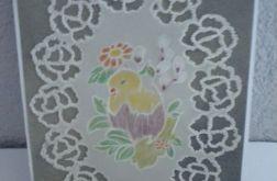 Kartka wielkanocna - kurczaczek