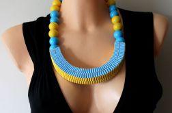Naszyjnik żółto - niebieski nr 2
