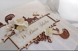 Kartka na ślub w beżach 01, prezent, pamiątka, pudełko