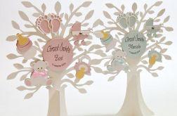 """Dekoracja na stół drzewo """"W dniu Chrztu"""""""