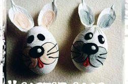 Pisanki WHITE BUNNY / Wielkanocny Zajączek