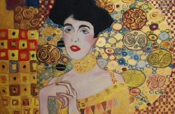 Gustav Klimt Adele Bloch obraz do salonu gold