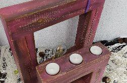 Zestaw - lampka i świecznik