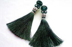 Kolczyki sutasz Ciemno zielone, z Chwostem