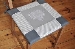 Poduszki na krzesła,siedziska - szare - 4szt