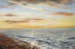Pejzaż Morze, obraz ręcznie malowany, olej