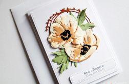 Kartka Ślubna - rude anemony