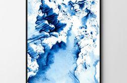 Plakat obraz Blue Wave 50X70 B2