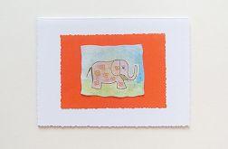 Kartka uniwersalna - słoń