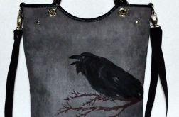 Torebka torba z krukiem rockowa / gothic