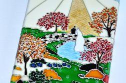 Ogród.. Kartka ślubna na płótnie
