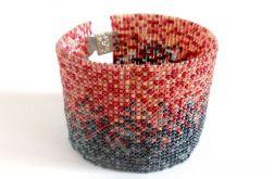 Pixel Melanż - bransoletka koralikowa