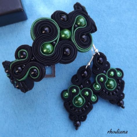 Czarno zielony II - komplet sutasz