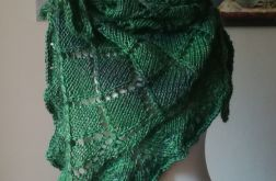 Rustykalne zielenie duża chusta