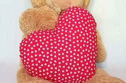 Poduszka serce czerwone w serduszka