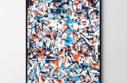 Plakat abstrakcja funky 50X70 B2