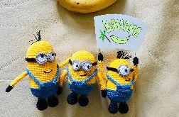 Minionki Bob, Kevin i Stuart banana