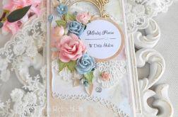 Ślubna kartka DL w pudełku 42