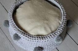 bawełniany kosz ze sznurka