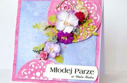 Wiosenny ślub w różu i błękicie