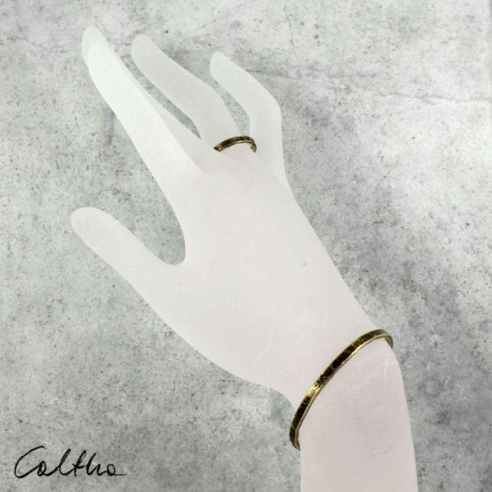 Mosiężna bransoletka + obrączka 200131-06 - Mosiężna  biżuteria  - komplet